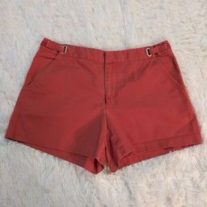 J.Crew size 8 brick red Chino shorts 13 in Long